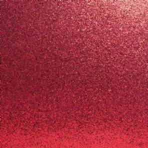 Bright Red Glitter Card Pristine Cardstock